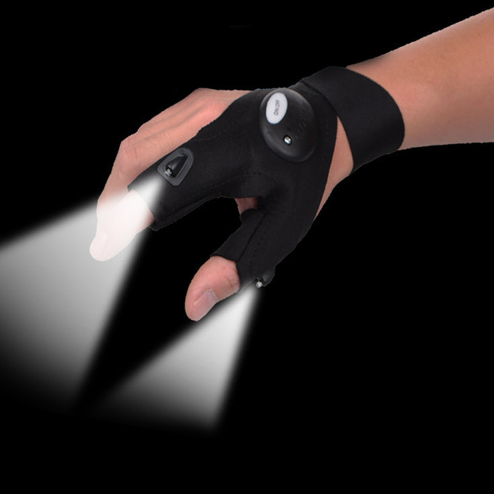 New Multifunctional LED Flashlight Gloves Breathable Lighting Luminous Glow Glove  Free Size