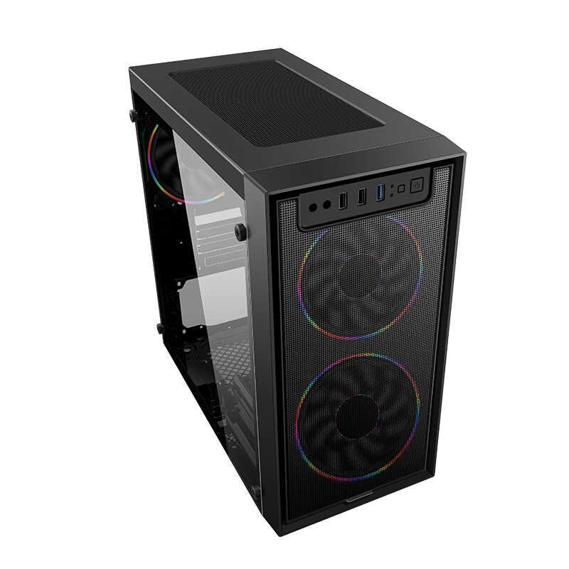 IPASON A3 mini - Gaming PC AMD Ryzen 3 2200G DDR4 4G/8G 120g SSD คอมพิวเตอร์เดสก์ท็อป win10 barebone system HDMI/VGA