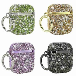 For Airpods Pro Changing Case Crystal Diamond Bag Shell Case With Anti Lost Ear Hooks