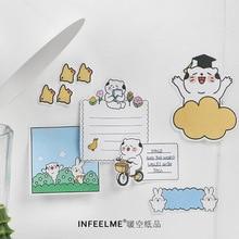 30 Pcs/set Kawaii Sticky Notes Cutecartoon Cat Life Memo Pad Planner Stickers Memo Sheets Office School Supplies Stationery