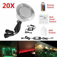 20 _ _ _ _ _ _ _ _ _ _ _ _ _ _ _ _ _ _ _ _ mm 12V RGB RGBW Teras LED Güverte Merdiven Alt YUKARı/Aşağı Adım Işıkları Su Geçirmez WIFI bluetooth Mesh Denetleyici Zamanlayıcı Dimmer