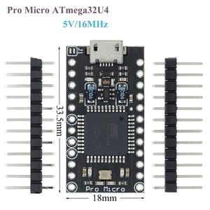 Image 1 - 100Pcs Met De Bootloader Nieuwe Versie Pro Micro ATmega32U4 ATMEGA32U4 AU 5V/16Mhz Module Controller (Hei)