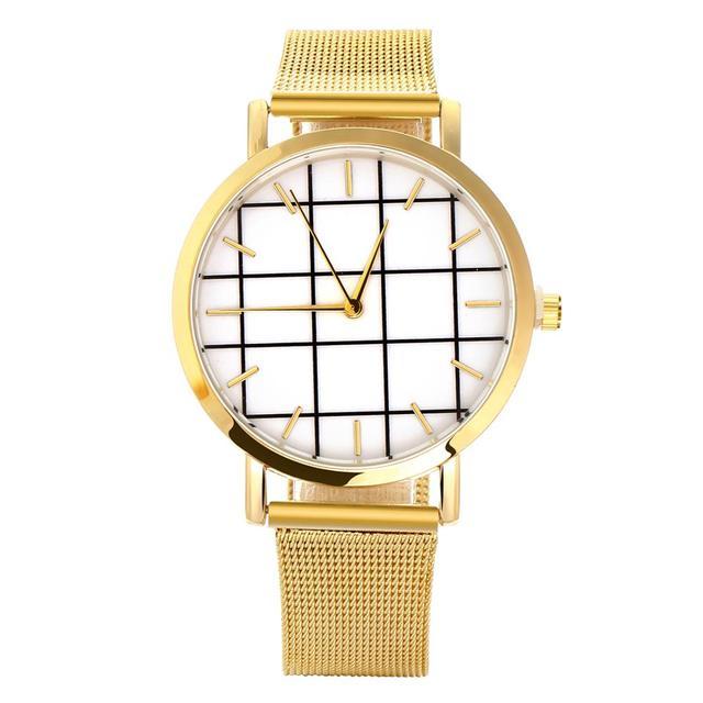 Hesiod Luxury Elegant Lady GoldRose GoldSilver Big Watch