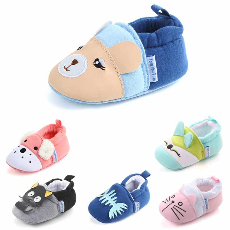 Children Cotton Shoes Kids Home Slippers Boys Girls Cute Cartoon Shoes Baby Thickening Warm Indoor Shoes