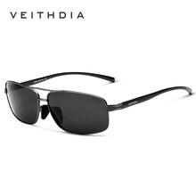 Бренд VEITHDIA, дизайнерские солнцезащитные очки для мужчин, HD поляризованные линзы, мужские солнцезащитные очки, очки, аксессуары, очки 2458