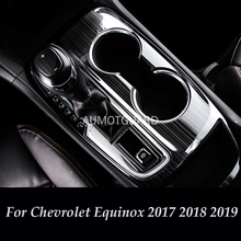 Interior Modification Special Stainless Steel Central Control Gear Change Decorative For Chevrolet Equinox 2017 2018 2019 17 new for cruze window decorations for chevrolet 18 cruze stainless steel decorative stripe modification