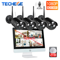 Techege 8CH 1080P Беспроводной NVR комплект 12