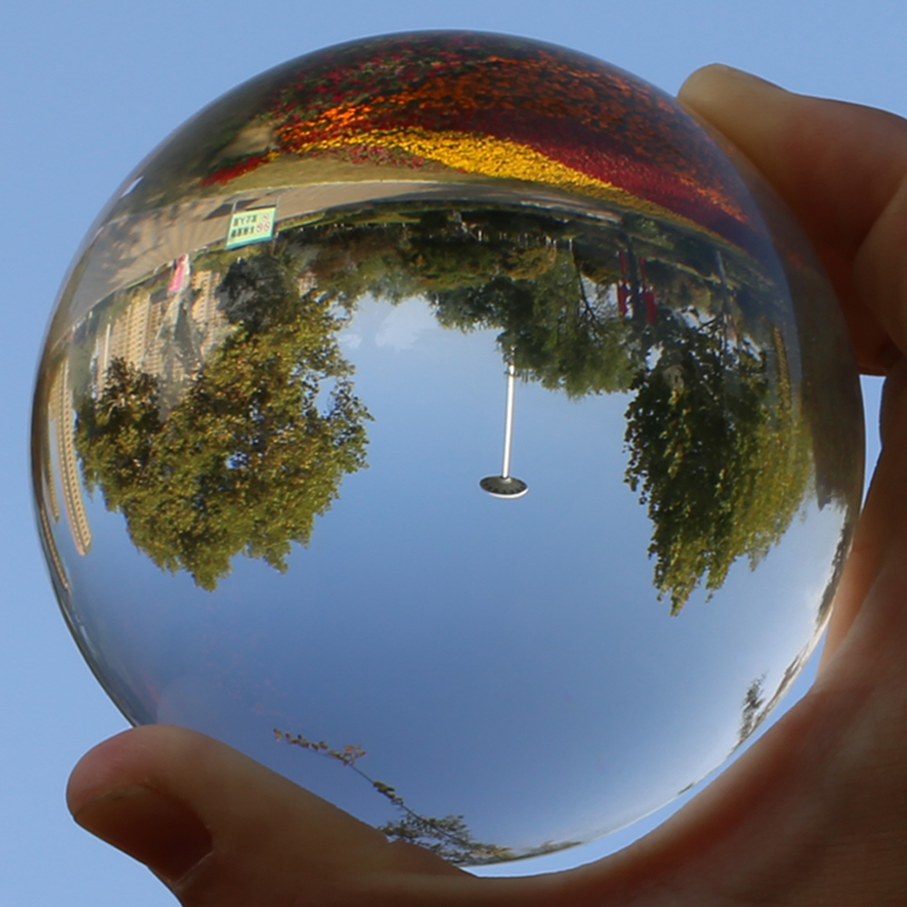 Super Clear Crystal Ball 60mm 80mm Photography Lensball Large Glass Divination Globe Big Magic Sphere With Wooden Base Stand
