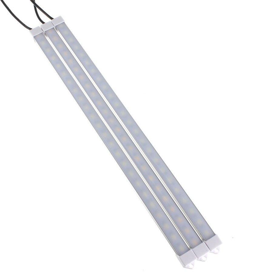USB alimenté 10/20/35/40cm SMD 5630 barre de LED lumière en aluminium LED bande rigide lumières pour armoire placard étude lampe de lecture 2