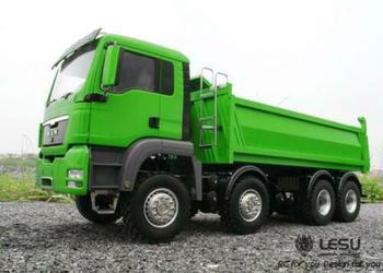 LESU 1/14 RC Painted Model MAN 8*8 Hydraulic Dumper Truck With Sound Light Motor ESC Servo THZH0484