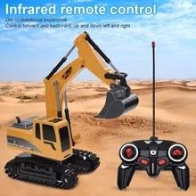 Car Crane Bulldozer Dump-Truck Engineering Excavator Electric-Vehicle-Toys Remote-Control