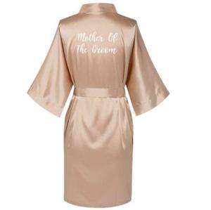 Image 5 - Satin Silk Robes Plus Size Wedding BathRobe Bride Bridesmaid Dress Gown Women Clothing Sleepwear Maid of Honor Rose Gold