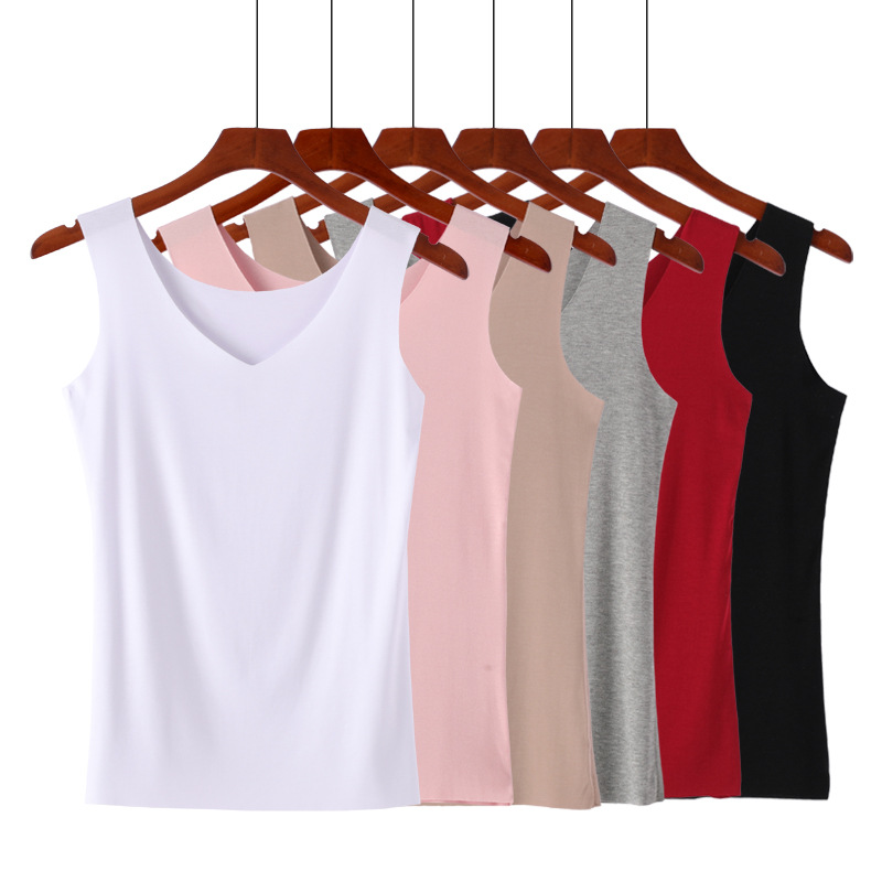 Korean Casual Women Tank Tops Summer Sleeveless Tank Tops Sexy Seamless Pink Shirt Vest Female Camis Solid Color Tank Tops