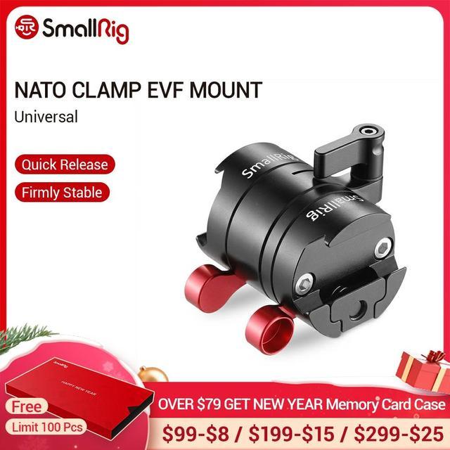 "SmallRig EVF הר DSLR אוניברסלית מצלמה Rotatable צג מצלמה הר עם נאט""ו מהדק כדי לתקן צג עם מצלמה 2141"