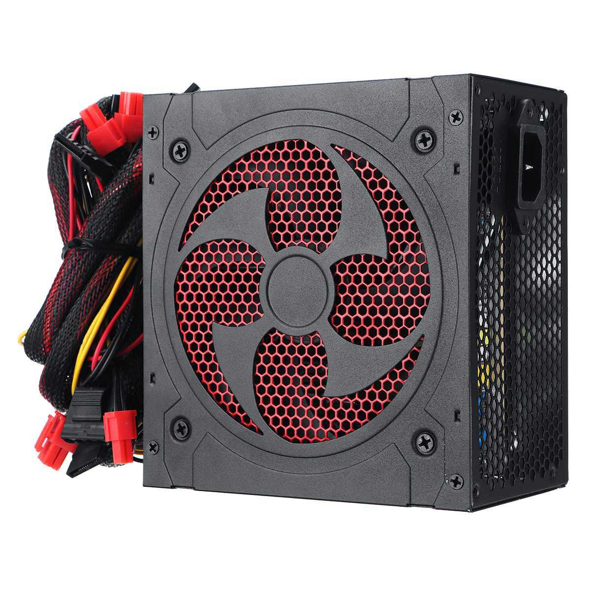 Hitam 1000W Power Supply PFC Silent Fan ATX 20pin 12V Komputer PC SATA PC Gaming Power Supply untuk intel Amd Komputer