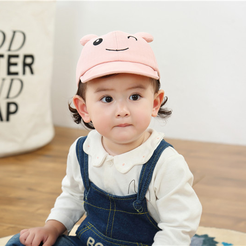 H8c31db1e063143eca018dc66e03eb4651 - Baby Hat Cute Bear Embroidered Kids Girl Boy Caps Cotton Adjustable Newborn Baseball Cap Infant Toddler Beach Outdoor Sun Hat