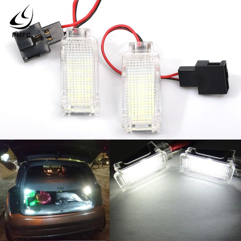 PMFC 1 пара светодиодный светильник в коробке внутренняя лампа дверь вежливое багажник Boot Footwell перчатки для VW SKODA Fabia Octavia Roomster Rapid Kodiaq