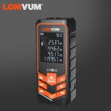 LOMVUM Telémetro Láser de nivel automático con batería, 66U, multifunción, medidor de distancia, herramienta telémetro láser de visión nocturna