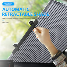 Foldable Car Windshield Sun Shade Automatic Extension Car Cover Window Sunshade UV Sun Visor Protector Curtain 46CM/65CM/70CM