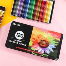 프리미엄 철 상자 36/72/120 수채화 물감 연필 나무 색깔 연필 세트 Lapis de cor 그림 아이들을위한 선물 Art School Supplie