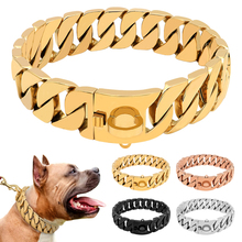 Dog-Collar Chain Dogs Doberman Steel Martingale Metal Medium Show for Large Safety High-End