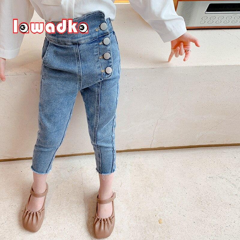 Lawadka Pantalones Vaqueros Ajustados Para Ninas Jeans De Moda Para Adolescentes De 2 A 6 Anos Color Azul Y Negro Primavera Y Otono Pantalones Vaqueros Aliexpress