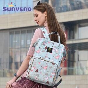 Image 1 - Sunveno Mommy Diaper Bag Large Capacity Baby Nappy Bag Designer Nursing Bag Fashion Travel Backpack Baby Care Bag for Mother Kid