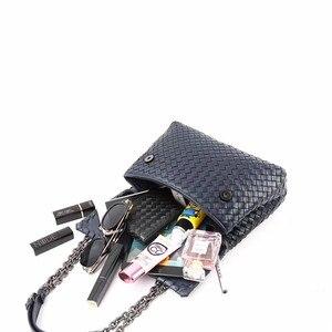 Image 5 - Iç ve dış dermis crossbody çanta basit omuz çantası yüksek kaliteli dokuma çanta koyun derisi kadın hakiki deri