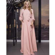 Женское винтажное платье макси с бантом элегантное Бандажное