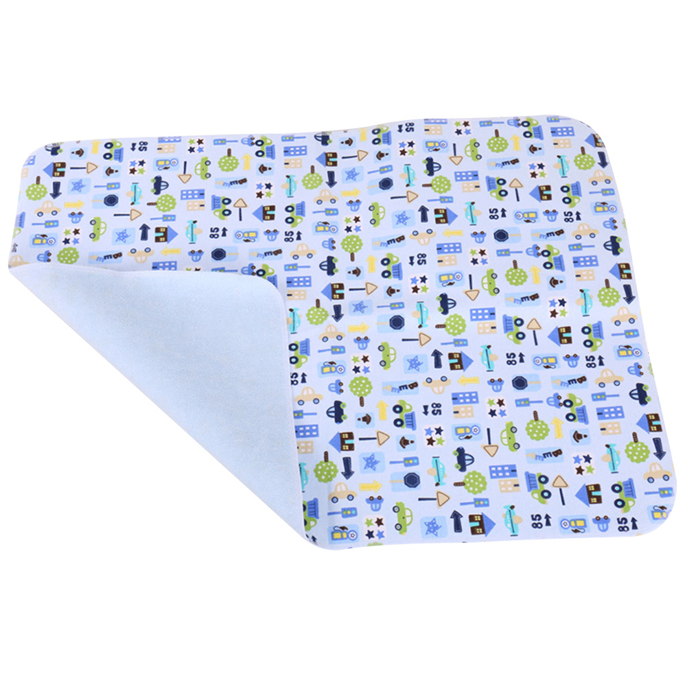 30x45cm Cartoon Printed Soft Playmat Diaper Pad Nappy Baby Infant Waterproof Sheet Isolate Changing Pad Urine Reusable Bedding