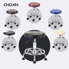 Мебель для салона красоты оборудование для парикмахерской стул для макияжа ногтей с колесом парикмахерский Стул Красный