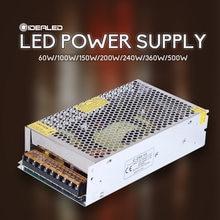 Led driver de alimentação dc12v/5v 60w/100w/150w/200w/240w/360w/500w/w led transformador de iluminação para led strip led módulo led luz