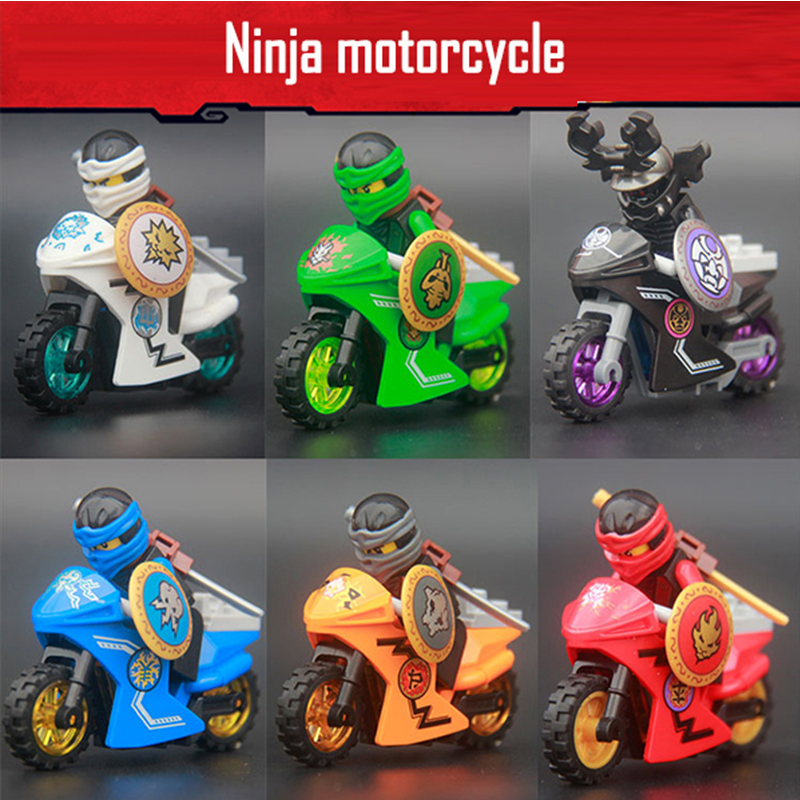 DECOOL NINJA Llord Garmadon Kai Motorcycle Ninjagoes Mini Figures Kids Gift Model Building Block Top Toy Dropshipping