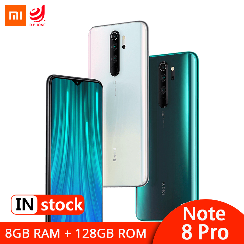 Global ROM Xiaomi Redmi Note 8 Pro 8GB 128GB MTK Helio G90T Smartphone 64MP Quad Rear Camera 6.53