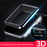 3D Tempered Glass For Apple Watch Series 1 2 3 4 Screen Protector Protective Film For apple watch 44mm 40mm 38mm 42 mm silicone
