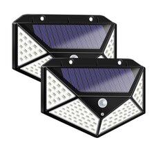 Солнечный светильник уличный 100 Светодиодная лампа с датчиком