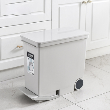 New 26L Wet And Dry Sorted Waste Bin With Wheels Pedal Press Opening Garbage Can Kitchen Corner Trash Bin Space Saving Bucket trash cans for the kitchen bathroom wc garbage classification rubbish bin dustbin bucket press type waste bin garbage bucket