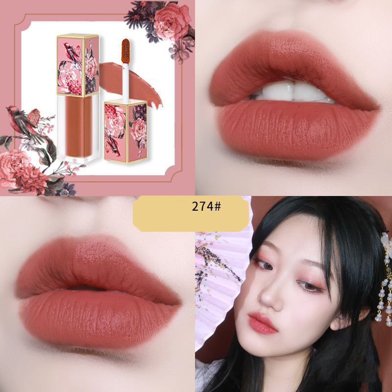 ZHENDUO 5 colors Makeup Forbidden City lip gloss velvet moisturizing liquid lipstick matte lasting natural waterproof lipgloss in Lip Gloss from Beauty Health
