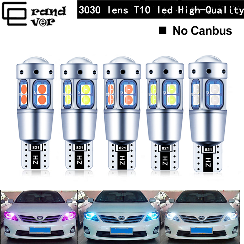 2PCS Super Bright T10 <font><b>Led</b></font> High quality <font><b>W5W</b></font> 194 Bulb 3030 10SMD canbus <font><b>led</b></font> Car Interior Reading Lamp License Plate Lights For <font><b>12V</b></font> image