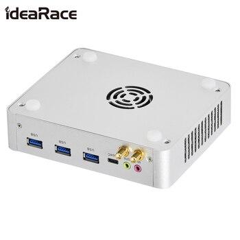Idearace With Fan Mini pc Intel Dual Core i3 6th Gen 6157U2.4GHz DP HDMI Small Computer M.2 LAN HTPC Mini PC