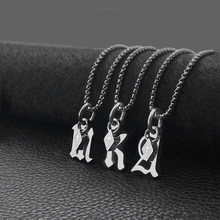 2021 new letter pendant necklace men and women light luxury versatile sweater chain