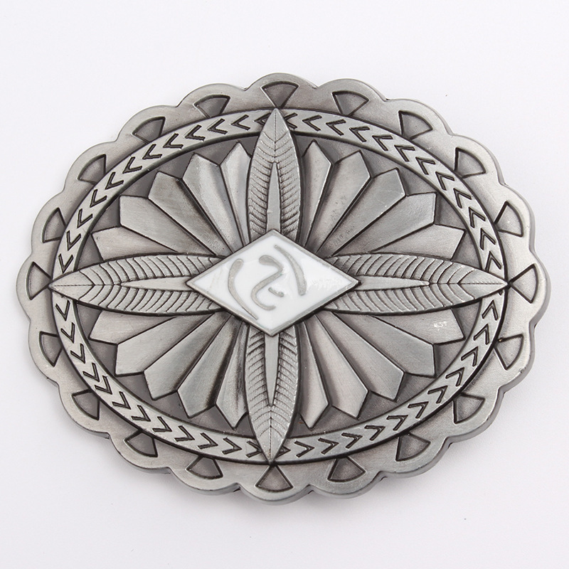 Belt DIY Accessories Indian Indigenous Tribal  Pattern Belt Buckle Western Cowboy Style Smooth Belt Buckle  Punk Rock Style
