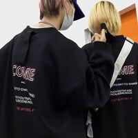 Men's Sweatshirt 2019 Autumn and Winter New Ribbon Printing Turtleneck Sweatshirt Youth Personality Fashion Trend Men's Wear