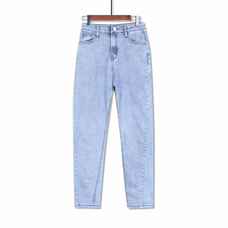 Womens Plus Size Boyfriend Loose Harem Mom Jeans Trousers Female Black Blue Gray Jean Pants 4XL 5XL 6XL 7XL 8XL Spring Autumn