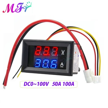 0.28 inch LED Digital Voltmeter Ammeter Car Motorcycle Voltage Current Meter Volt Detector Tester Monitor Panel Red Blue - discount item  10% OFF Measurement & Analysis Instruments