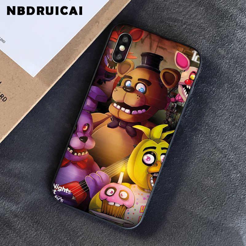 NBDRUICAI beş nights freddy'nin fnaf freddy yüksek kaliteli telefon iphone için kılıf 11 pro XS MAX 8 7 6 6S artı X 5 5S SE XR durumda