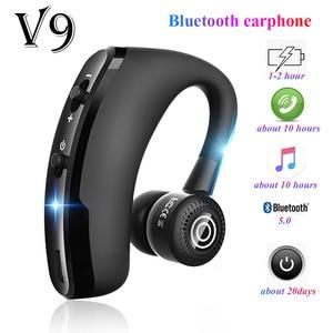 V9 earphones Bluetooth headphones Handsfree wireless headset Business headset Drive Call Sports earphones for iphone Samsung(China)