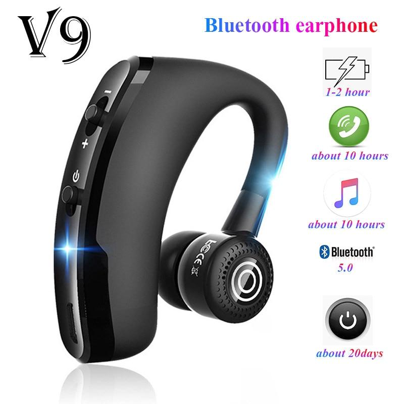 V9 earphones Bluetooth headphones Handsfree wireless headset Business headset Drive Call Sports earphones for iphone Samsung