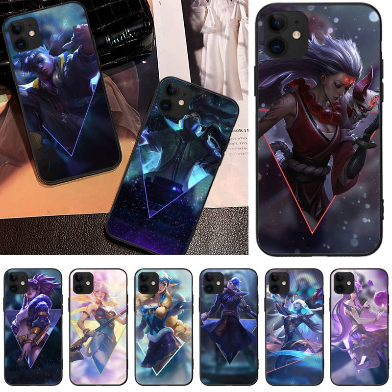 Mantin League of legends TPU black Phone Case Cover Hull For iphone 5C 5 6 6s plus 7 8 SE 7 8 plus X XR XS MAX 11 Pro Max Cover