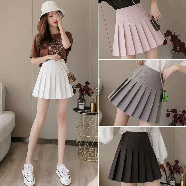 Women Skirts High Waist Pleated Mini Skirt Pink Pleated Satin Skirt Women's Fashion Slim Waist Casual Tennis Skirts School 2